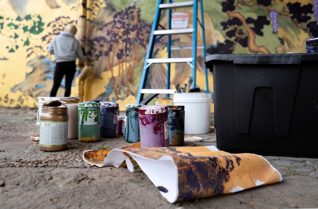 Anna Murphy - artist and painter of murals in Chicago