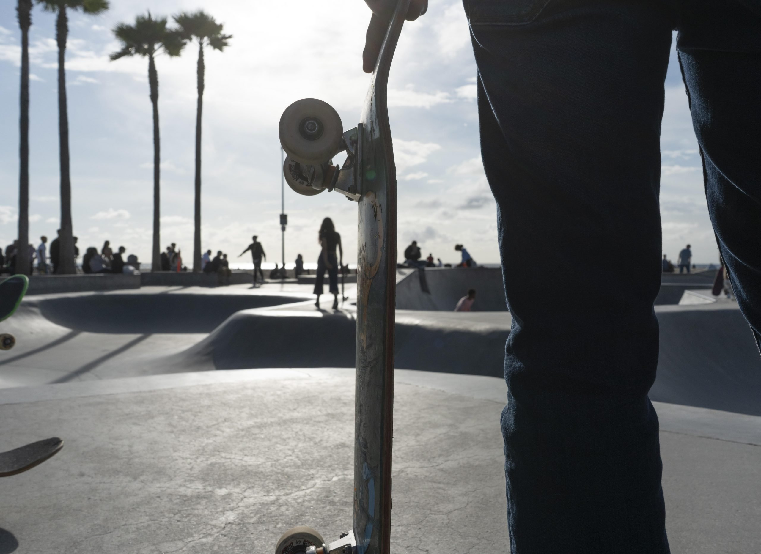 Skateboard park in Los Angeles.