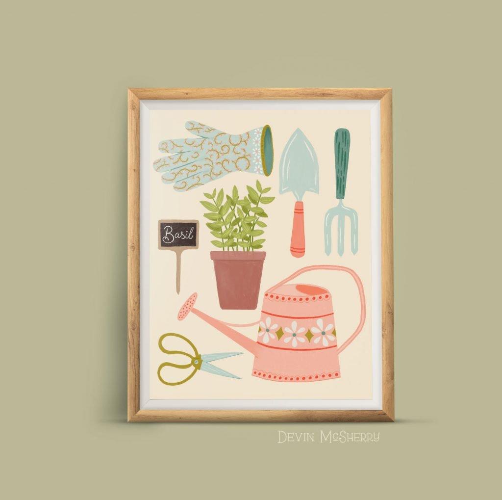 Devin McSherry Design farm illustrated print