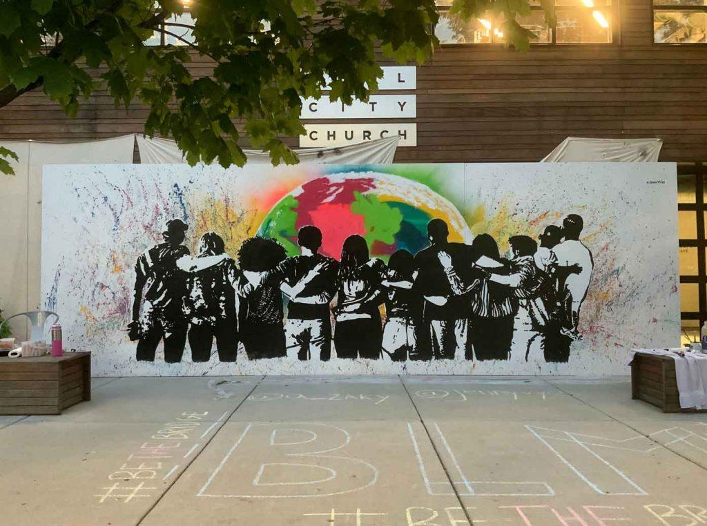 Be the Bridge Mural Soul City Church Chicago Jenny Vyas