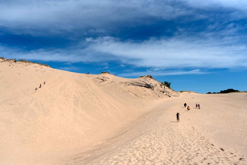 Massive sand dunes in Michigan - New Buffalo Michigan | Color & Curiosity