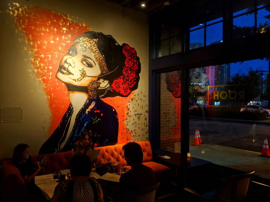 Mural inside ROOH Chicago by Jenny Vyas