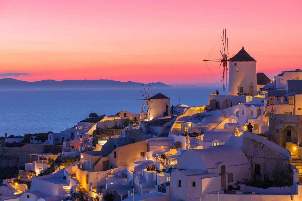 Santorini Sunset by Jenny Vyas