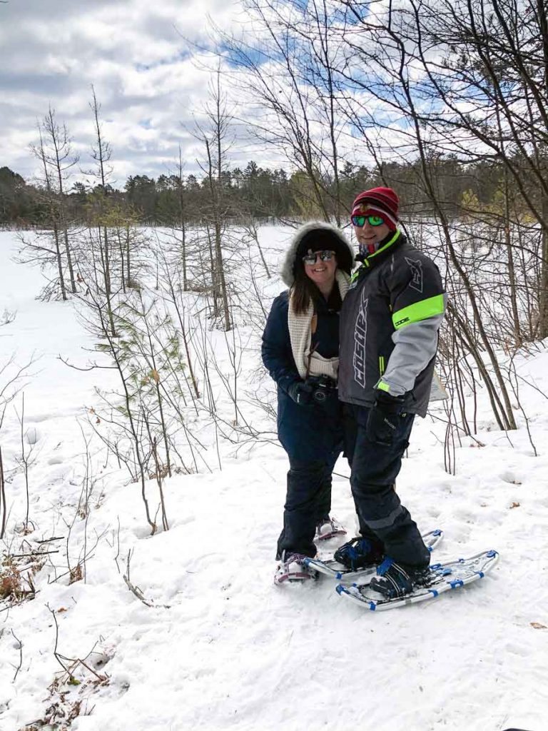 Snowshoeing in the winter Cystic Fibrosis Foundation - Katharine Haring Photographer in Chicago