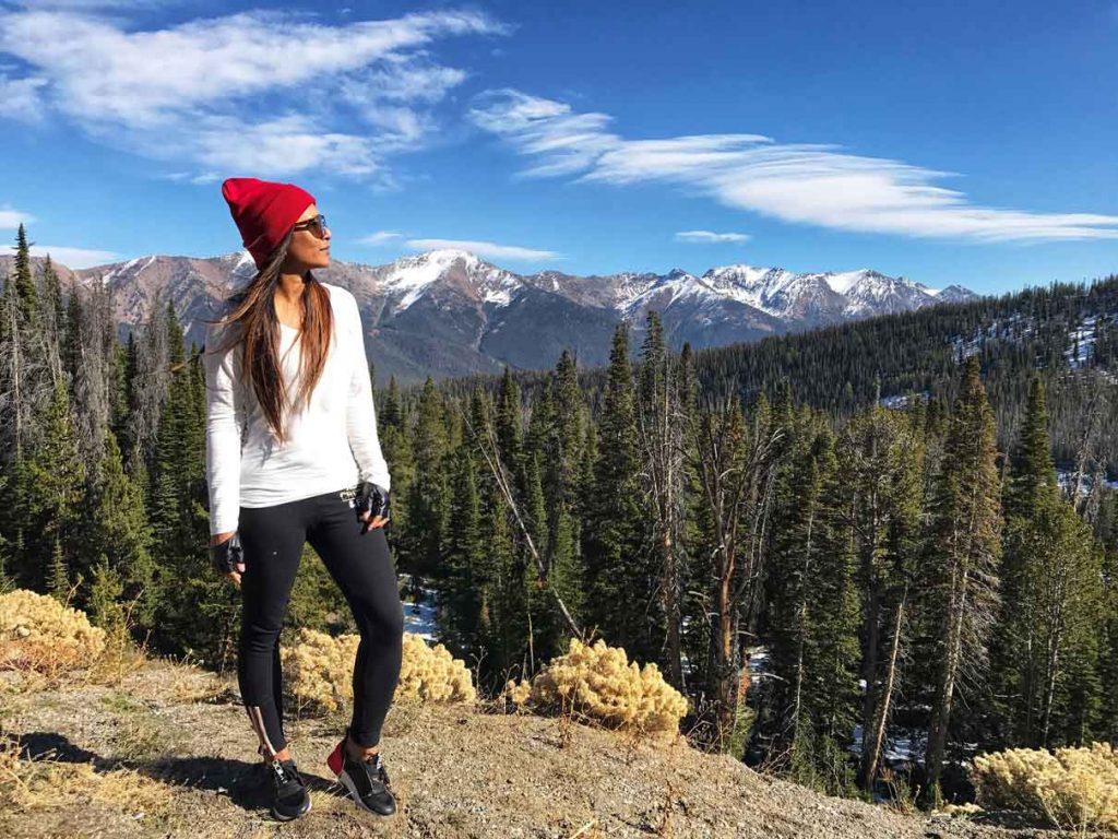 Jenny Vyas hiking in Idaho, Sun Valley