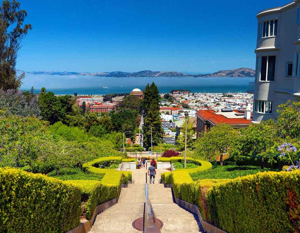 Lyon Street Steps - California Cities - San Fran