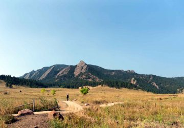 Woman hiking near Chautauqua Trail in Boulder Colorado - things to do