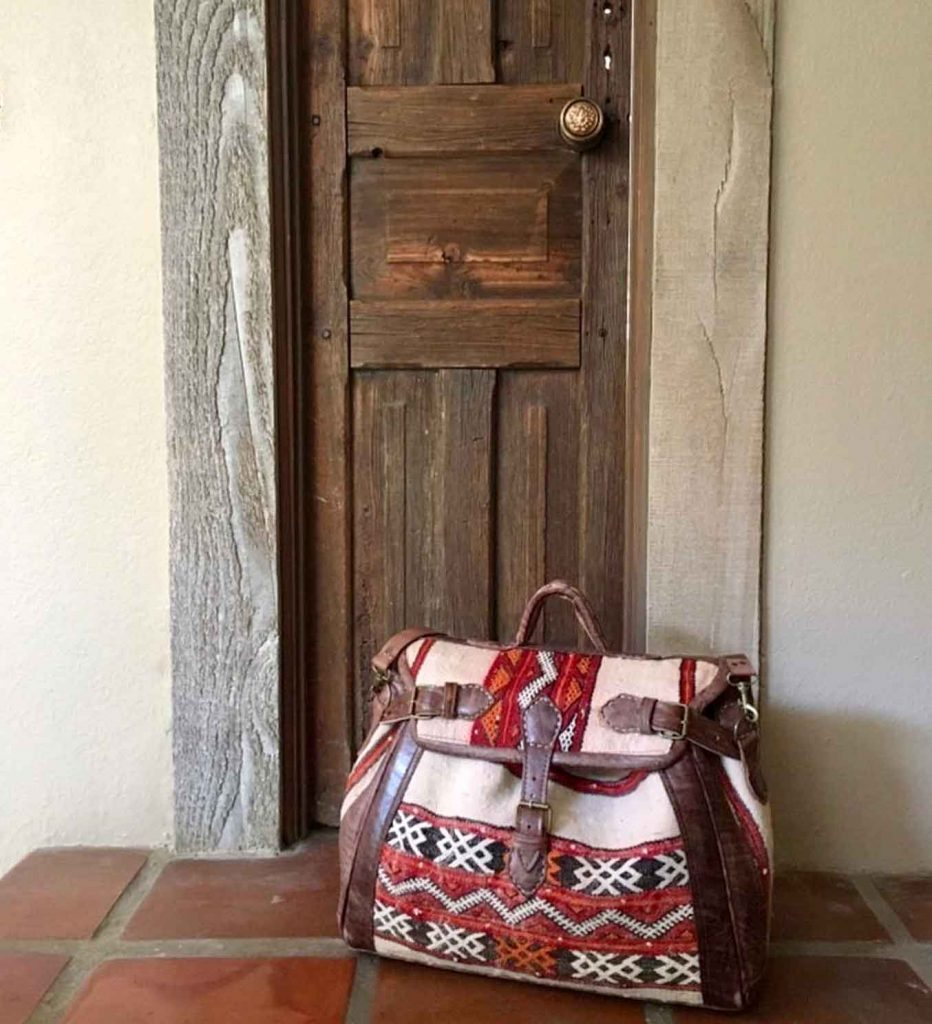 Beautiful handmade travel bag from MAYTA Collection