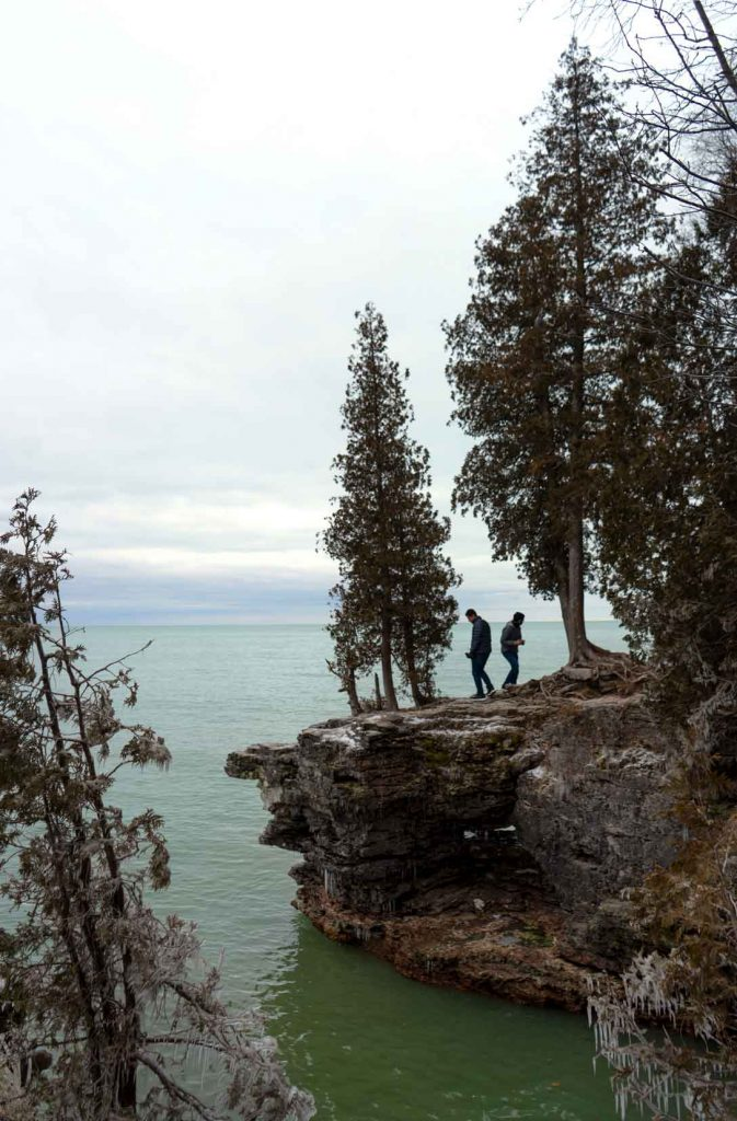 Photo op Cave Point Park - things to do in Door County