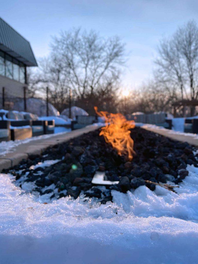 Fire pit at The Ridge Hotel Lake Geneva