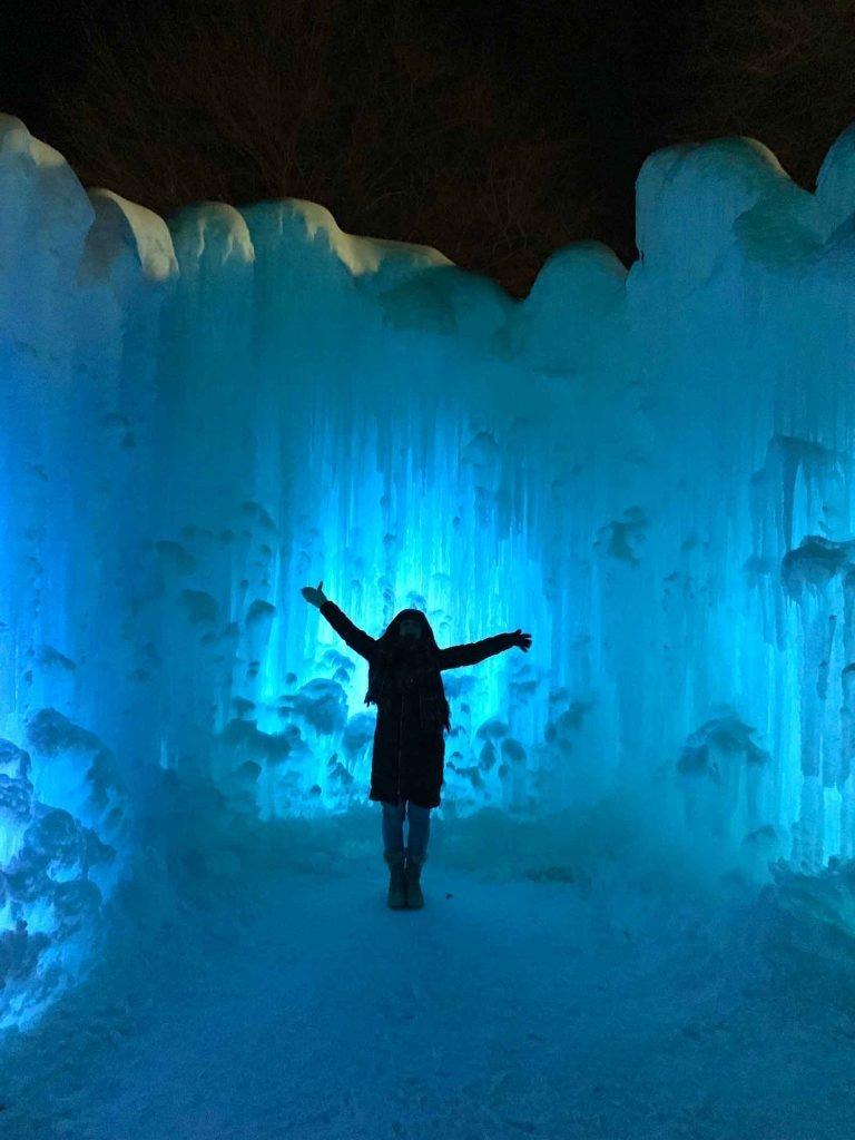 Ice Castles in Lake Geneva