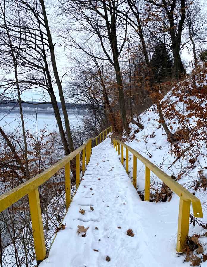 Shore Path at Geneva Lake in Wisconsin