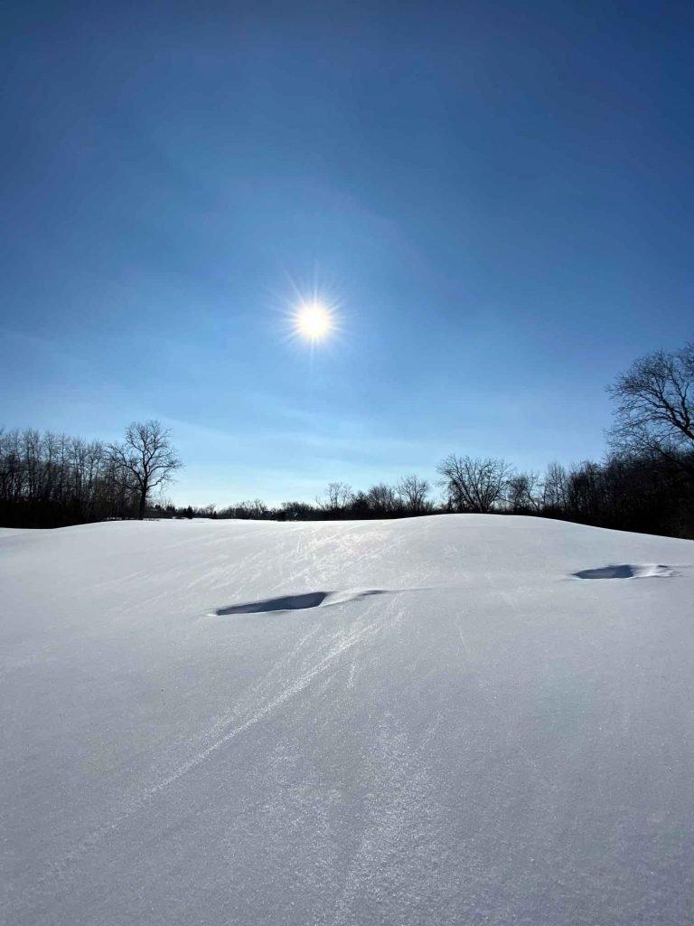 Snow dunes in Wisconsin