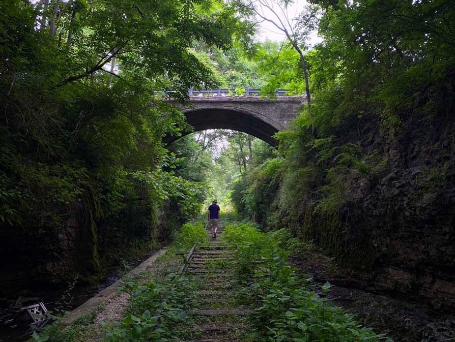 The Cut hiking trail - things to do in Madison Indiana