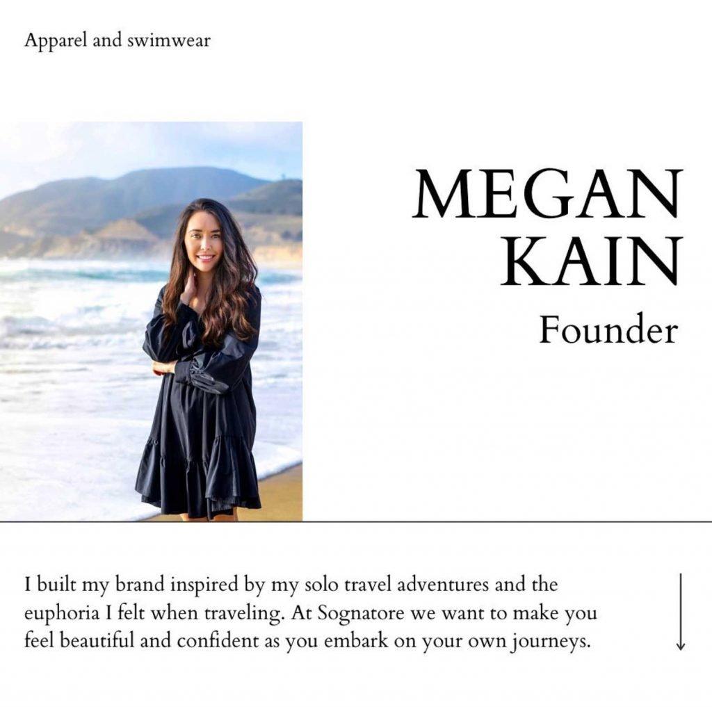 Female Founder - Megan Kain - Sognatore Collection